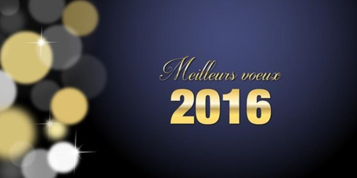 Meilleurs voeux 2016 Or