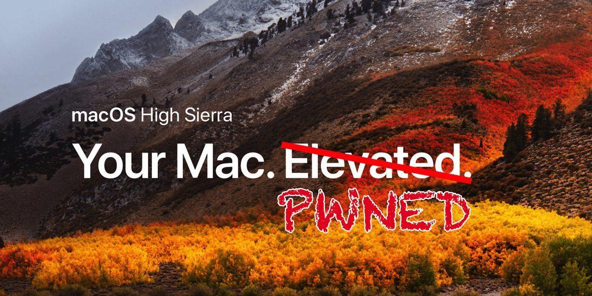 Un nouveau bug sur macOS High Sierra 10.13.2