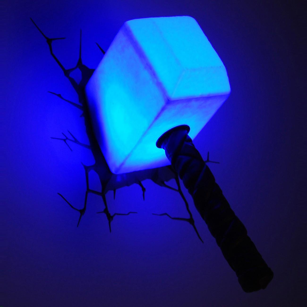 Lampe LED murale 3D Thor (Marvel)